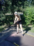Honeyhair playing minigolf #1