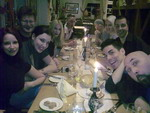 Honeyhair at Fetish Evotuion Essen - dinner with friends